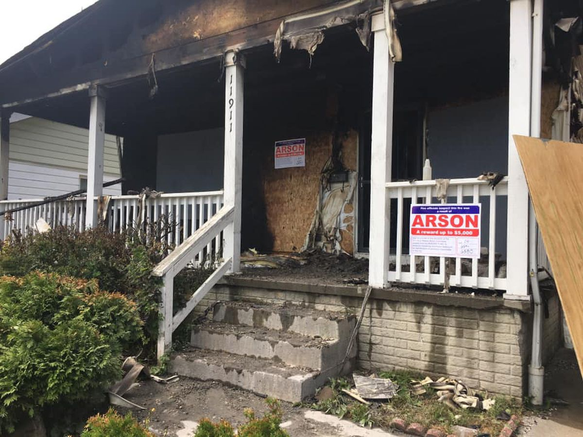 Cleveland firefighters suspect arson in vacant house explosion on Cleveland 's East Side; rewards offered