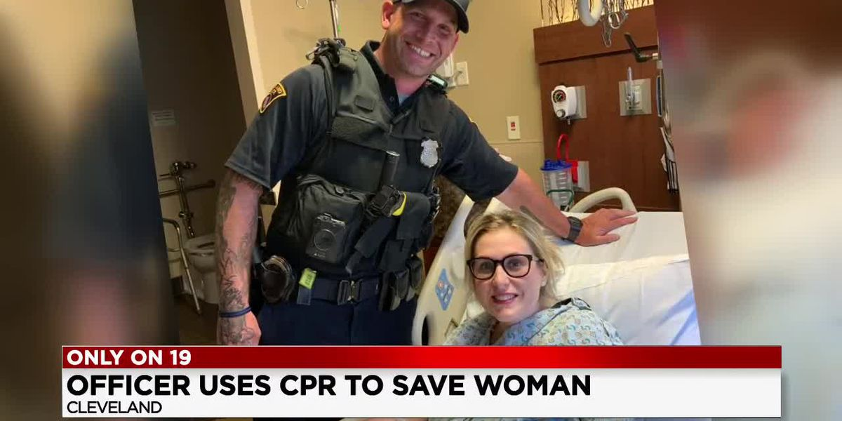 'They couldn't find a pulse': Hero cop saves woman's life at Cleveland City Hall