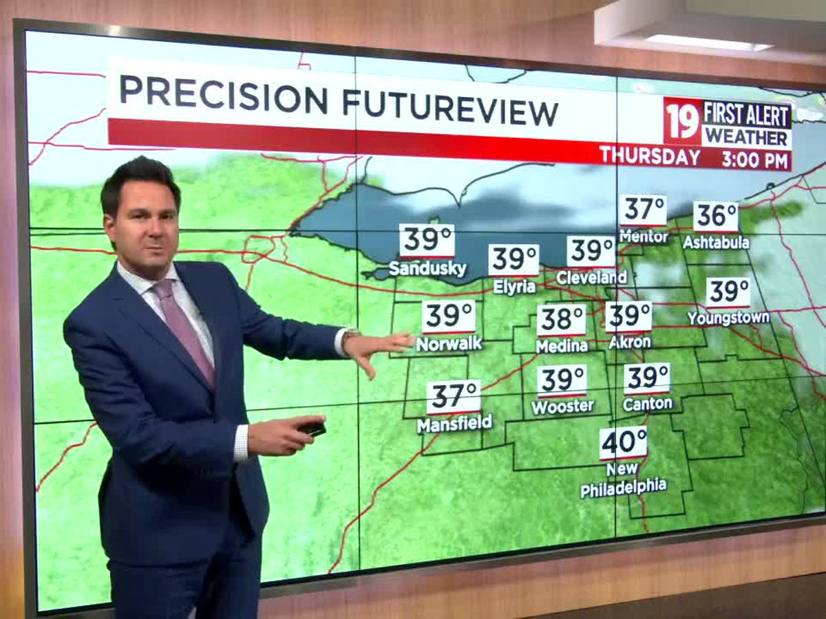 Northeast Ohio weather: A chilly night ahead, snow returns on Friday