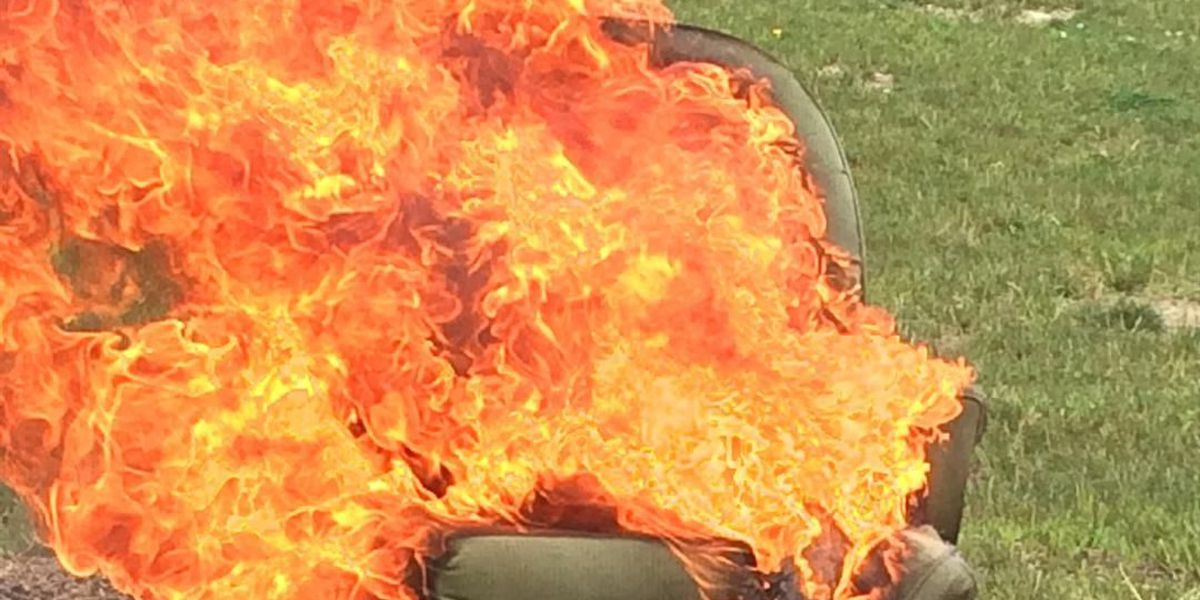 Carl Monday set stuff on fire for your family's safety