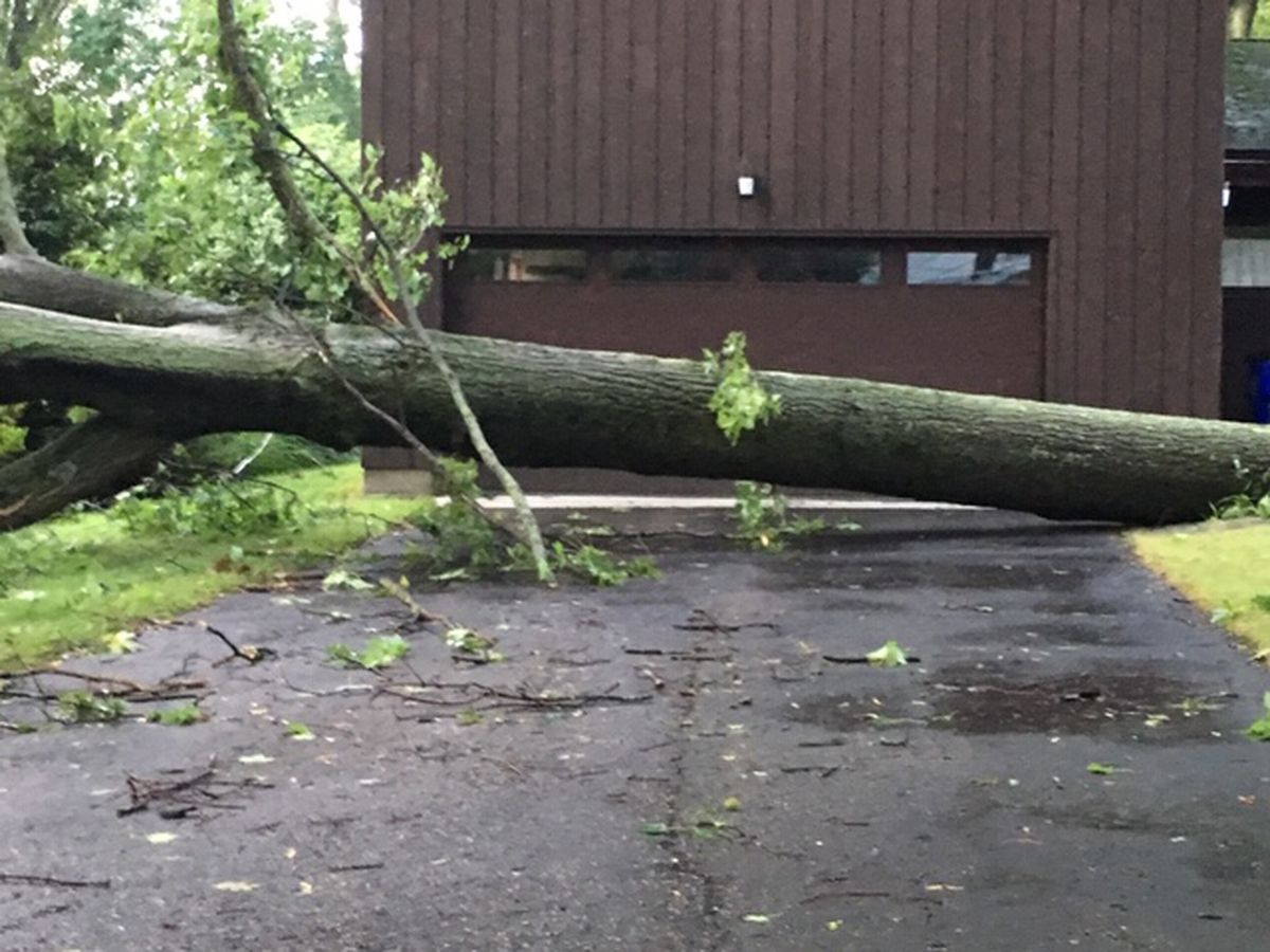 Residents continue cleanup in Kent after late-night severe storms