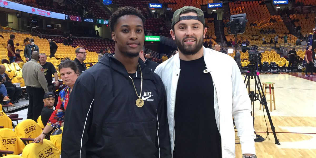 Browns' Baker Mayfield, Denzel Ward in the house for Cavs Game 4