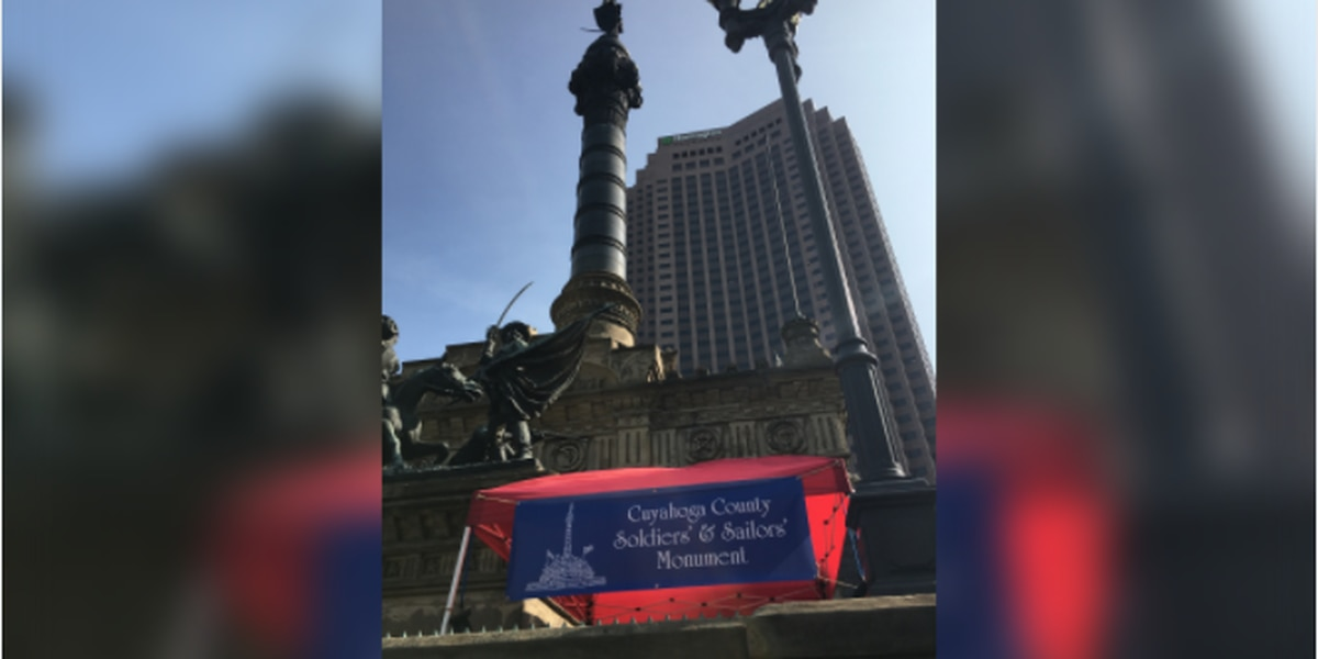Soldiers' and Sailors' Monument opens outdoor space for Saturday visits in downtown Cleveland