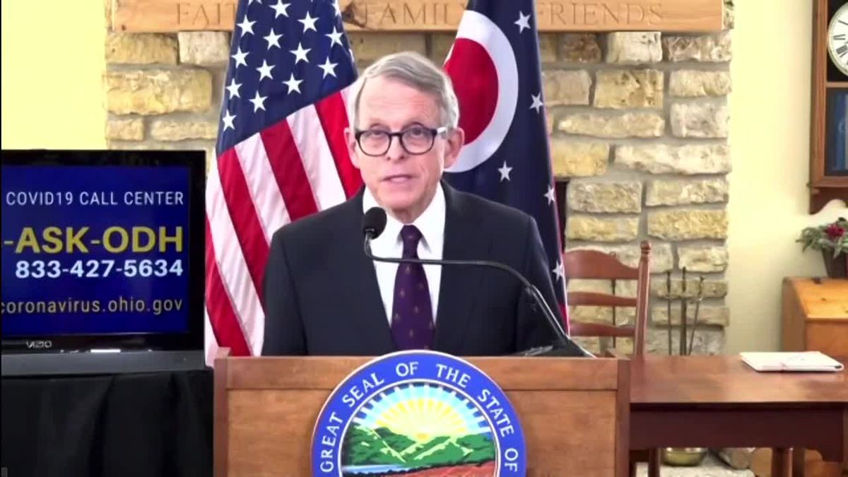 Ohio governor to address anniversary of 1st virus shutdowns