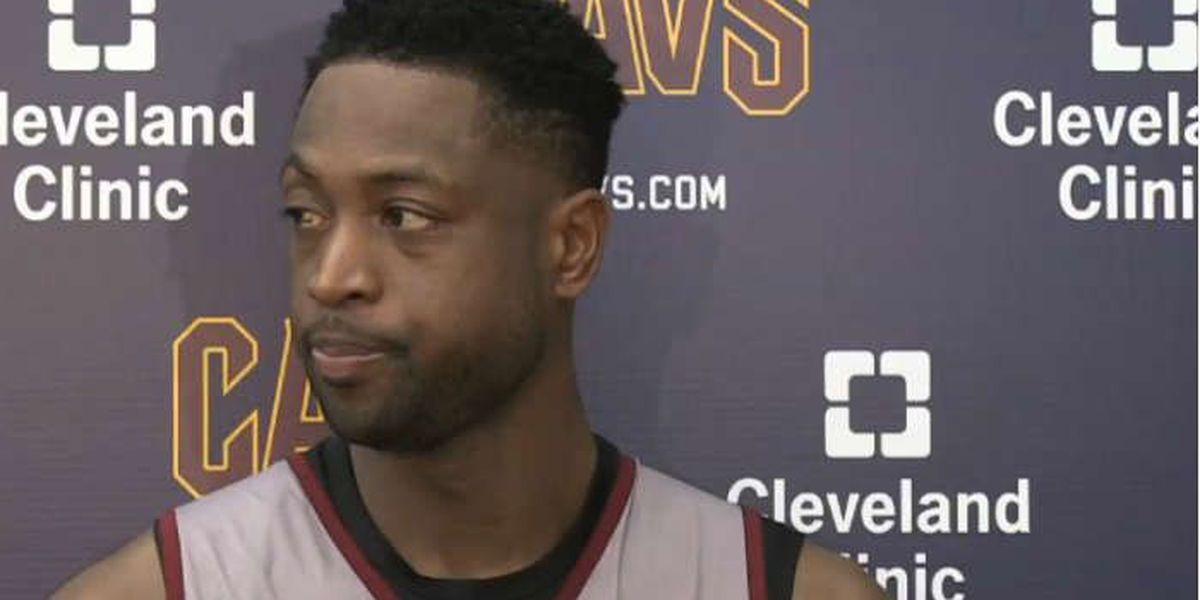 Cleveland Cavaliers guard Dwyane Wade (knee) won't play tonight