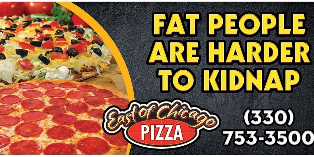 'Fat people are harder to kidnap': Controversial Barberton pizza shop billboard taken down after backlash
