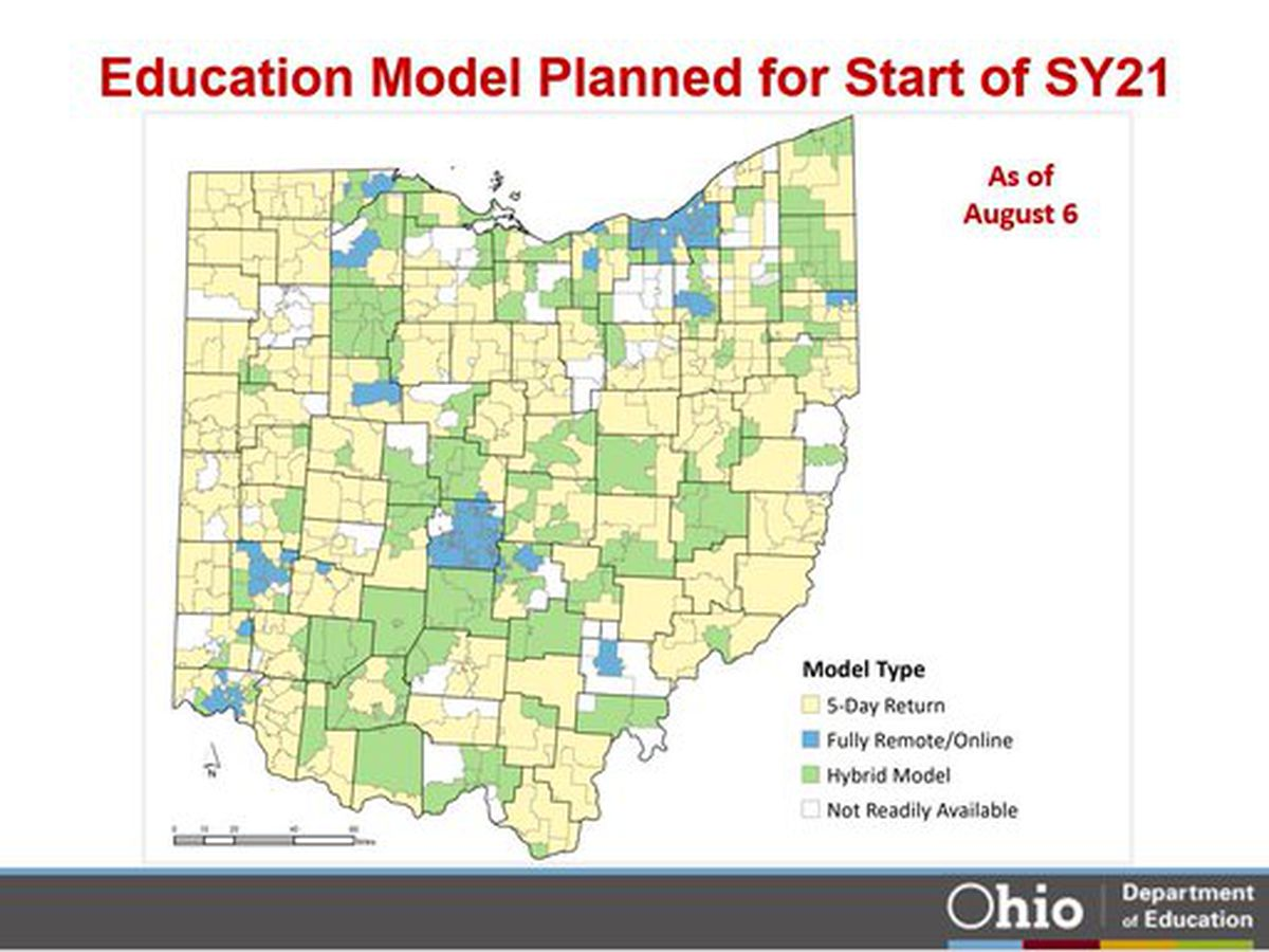 Majority of Ohio public school students will return to in-class learning 5 days a week in the fall