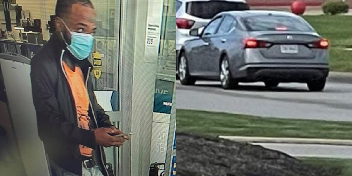 Man accused of stealing from Perkins Township business on April 12 before taking off in gray Nissan sedan