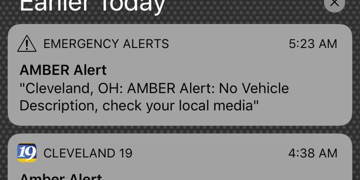Agencies looking into why some in Northeast Ohio didn't get the AMBER Alert early this morning