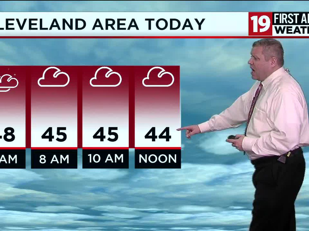 Northeast Ohio Weather: Windy with a few showers around today; temperatures in the 40s