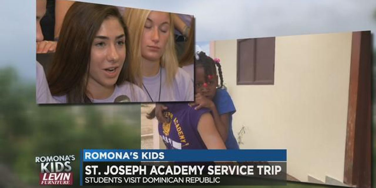 St. Joseph Academy students spent summer aiding families in Dominican Republic: Romona's Kids