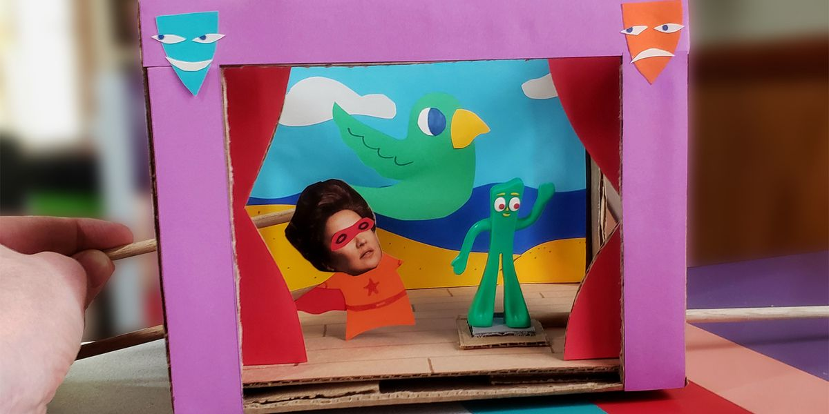 Family craft time! How to make a Play Stage