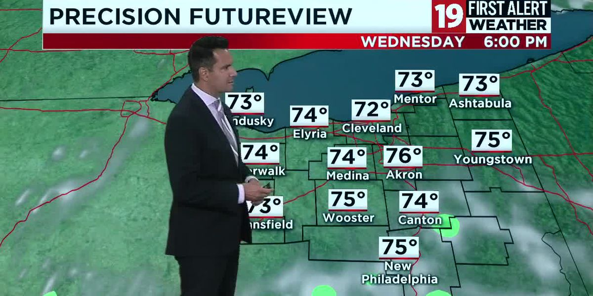 Northeast Ohio Weather: Heat and storms retreat, sunshine and pleasant temperatures move in