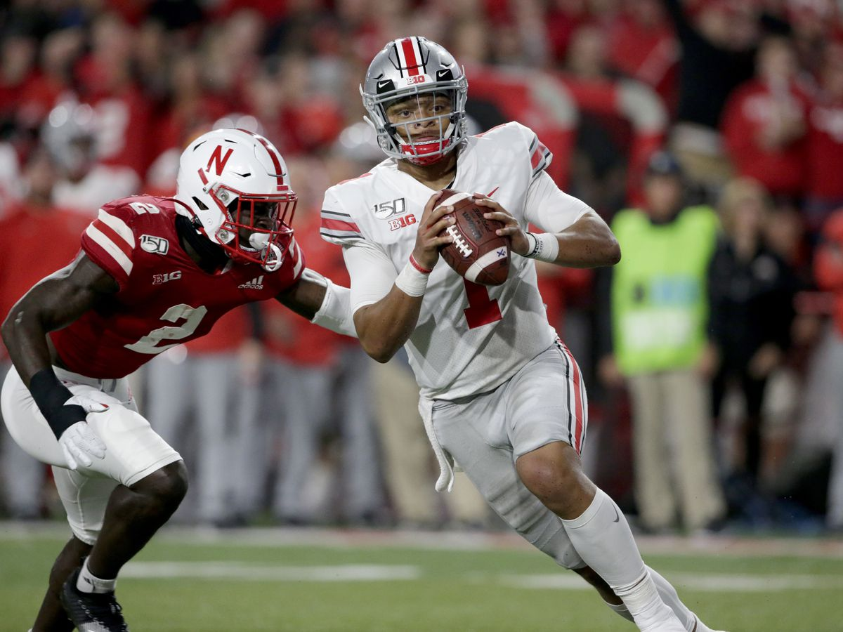 No. 5 Ohio St. throttles Huskers 48-7 behind Fields, defense