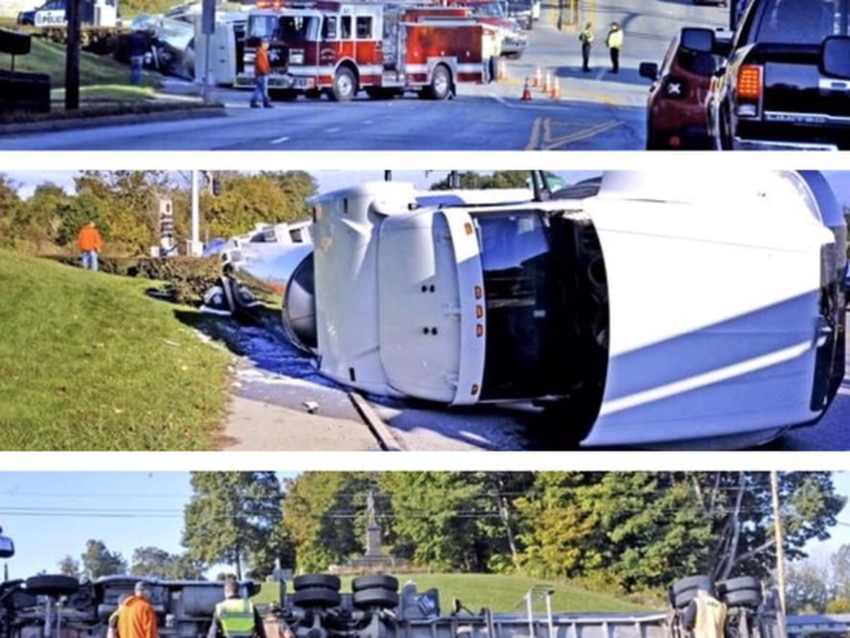Moove over, Wooster! 6,000 gallons of milk spilled in tanker crash (photos)