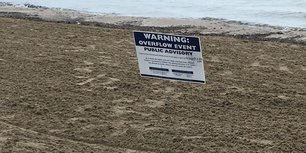 Rain causes raw sewage overflow at Edgewater Beach