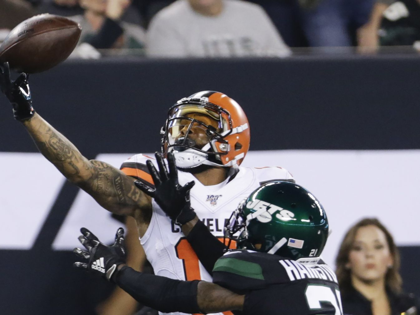 OBJ, Mayfield and Chubb lead the way in Browns 23-3 win over Jets (video)