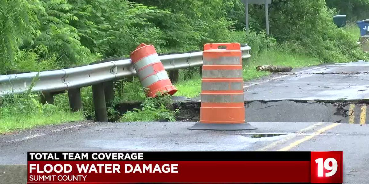 Roads collapse in Summit County, cities at odds over who's responsible for the fix