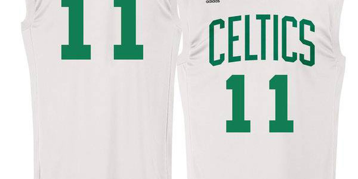 With trade in limbo, Irving's Celtics and Thomas' Cavs jerseys go on sale