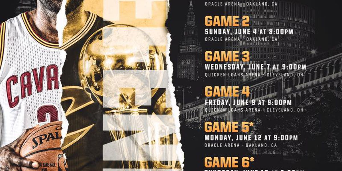 Cavs NBA Finals Official Watch Party Tickets on sale