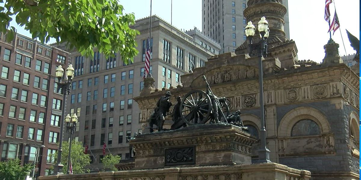 Soldiers' and Sailors' monument vandalized, suspect caught on camera