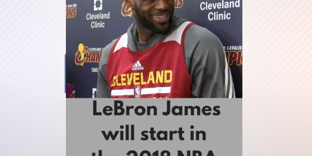 official photos d7898 1115a LeBron James & Kyrie Irving named starters for 2018 NBA All ...