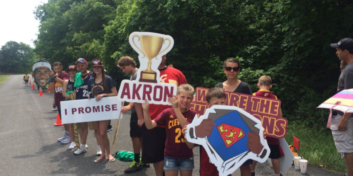 Hometown Celebration! Akron celebrates LeBron James
