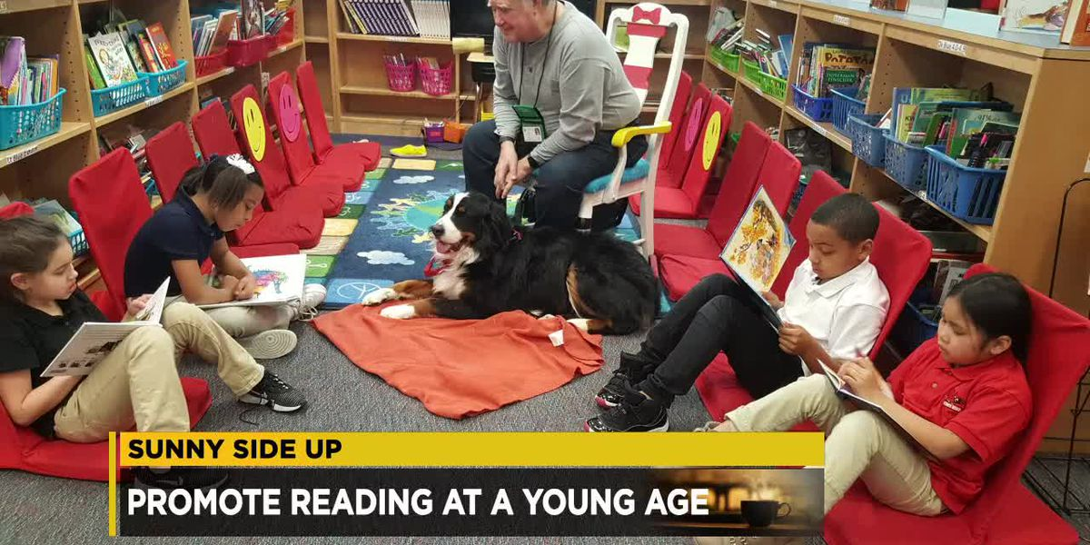 Artemus Ward School joins Sunny Side Up to talk about a new dog therapy reading program