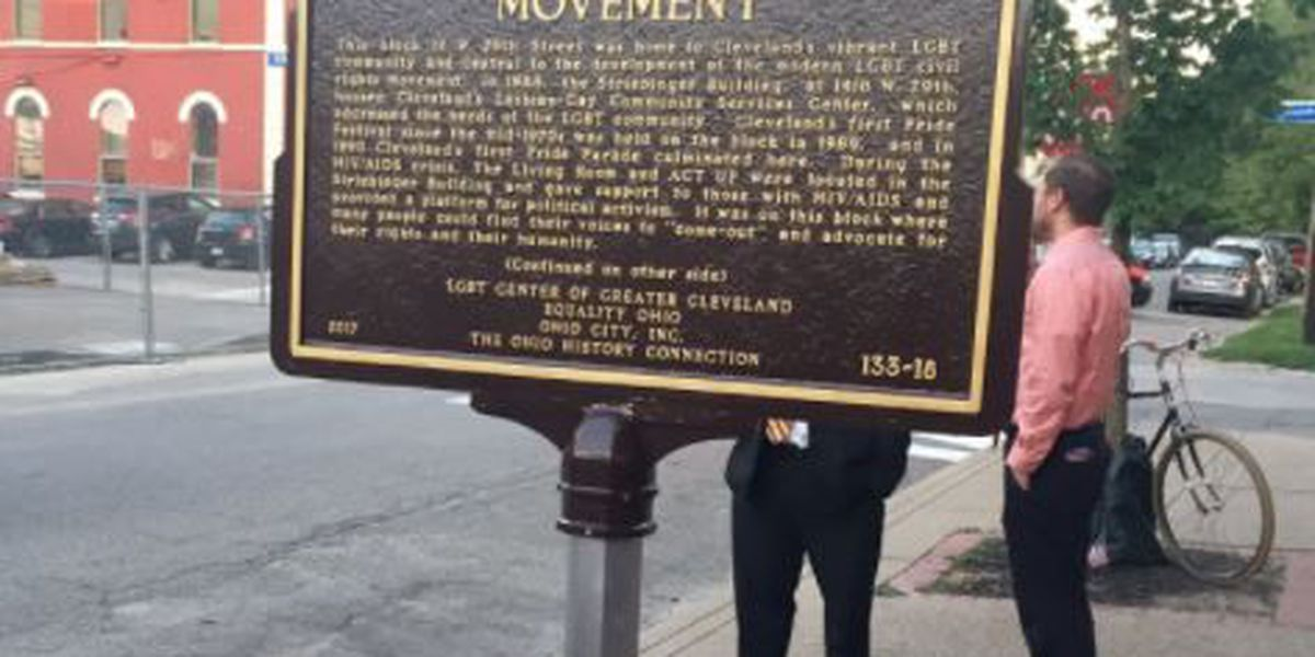Ohio's first LGBT historic marker placed in downtown Cleveland