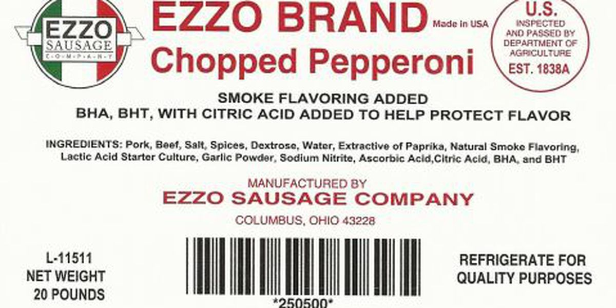 Sausage and pepperoni recall from Ohio based company for Listeria