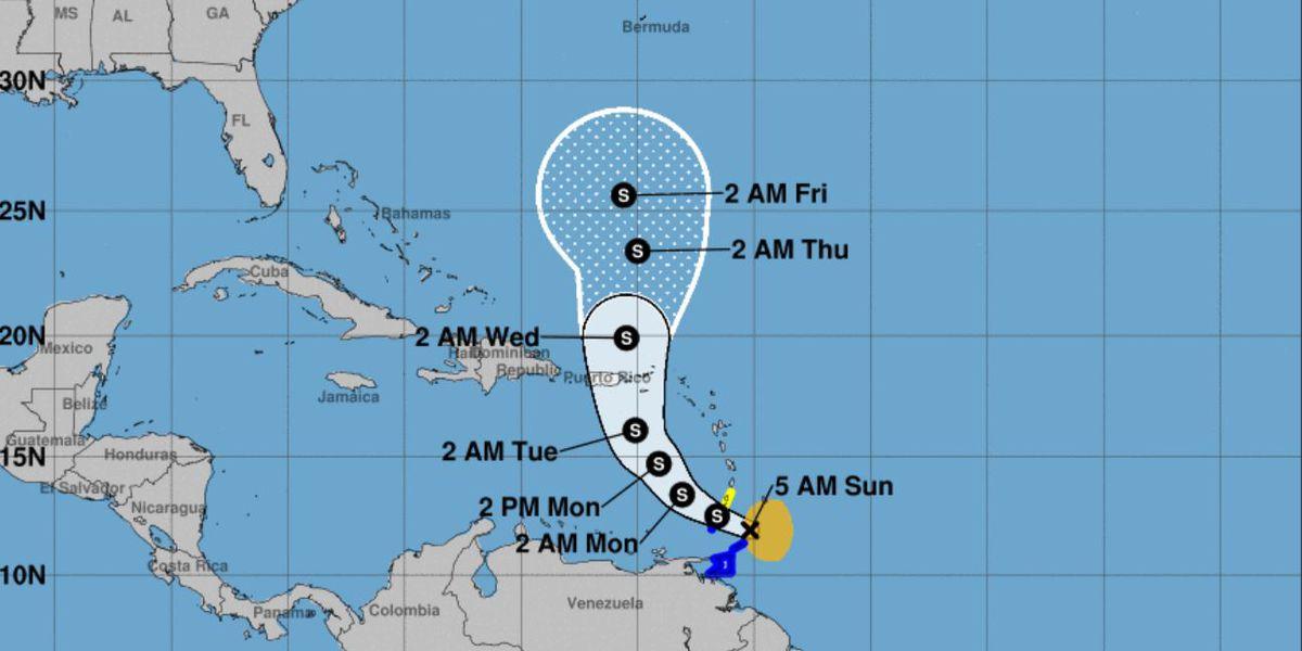 Tropical Storm Karen forms in Atlantic