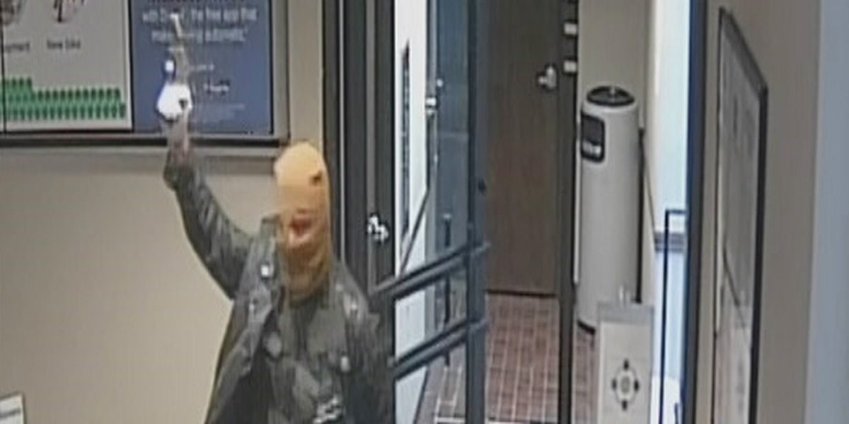 Masked man waving gun snatches cash during Wellington bank robbery