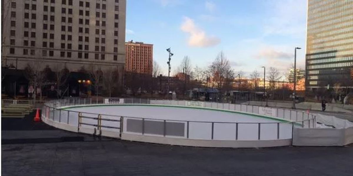 Free ice skating at Public Square on New Year's Eve