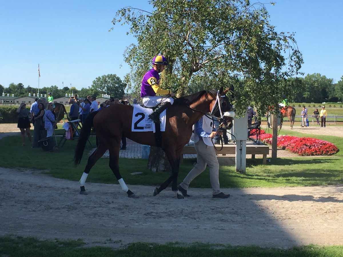 Owendale storms to the lead to win Ohio Derby