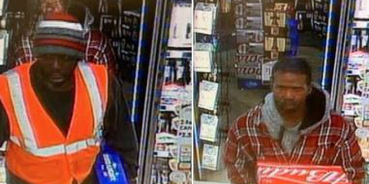Richmond Heights Police want help identifying two men who thought Beer Cave was a free buffet