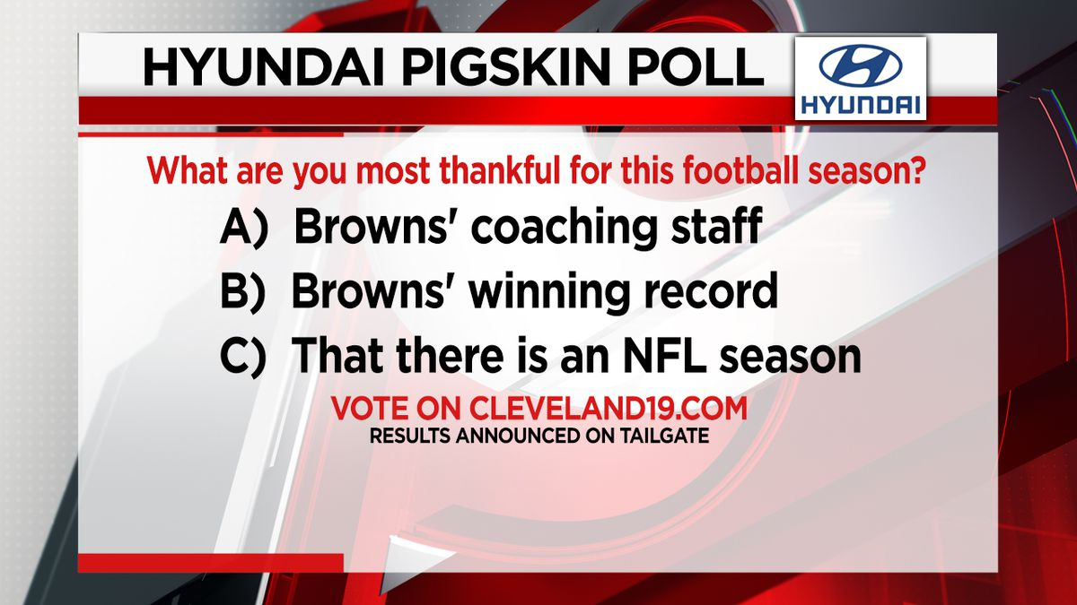 What are you most thankful for this football season?