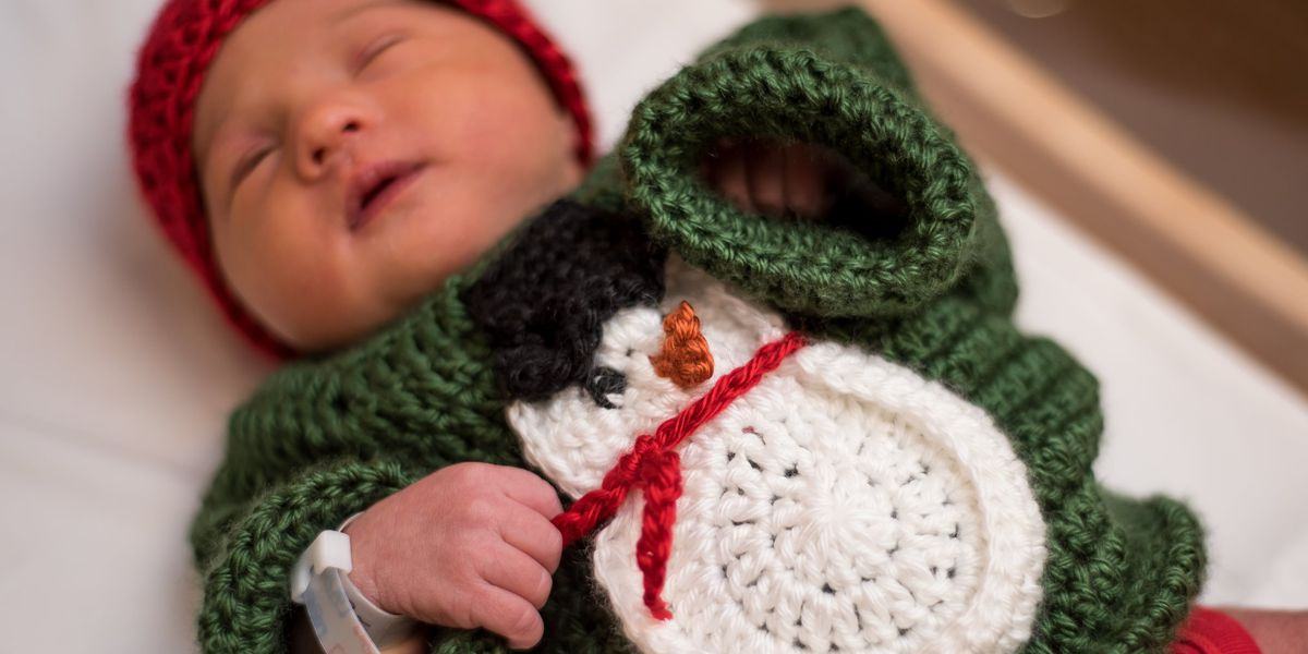 You have to see these cute newborns dressed in ugly sweaters for the holidays (photos)