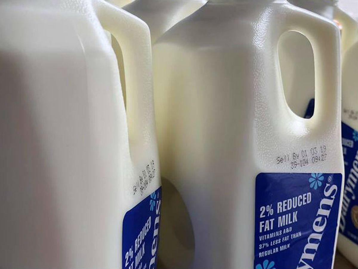 The Greater Cleveland Food Bank is giving away thousands of half-gallons of milk
