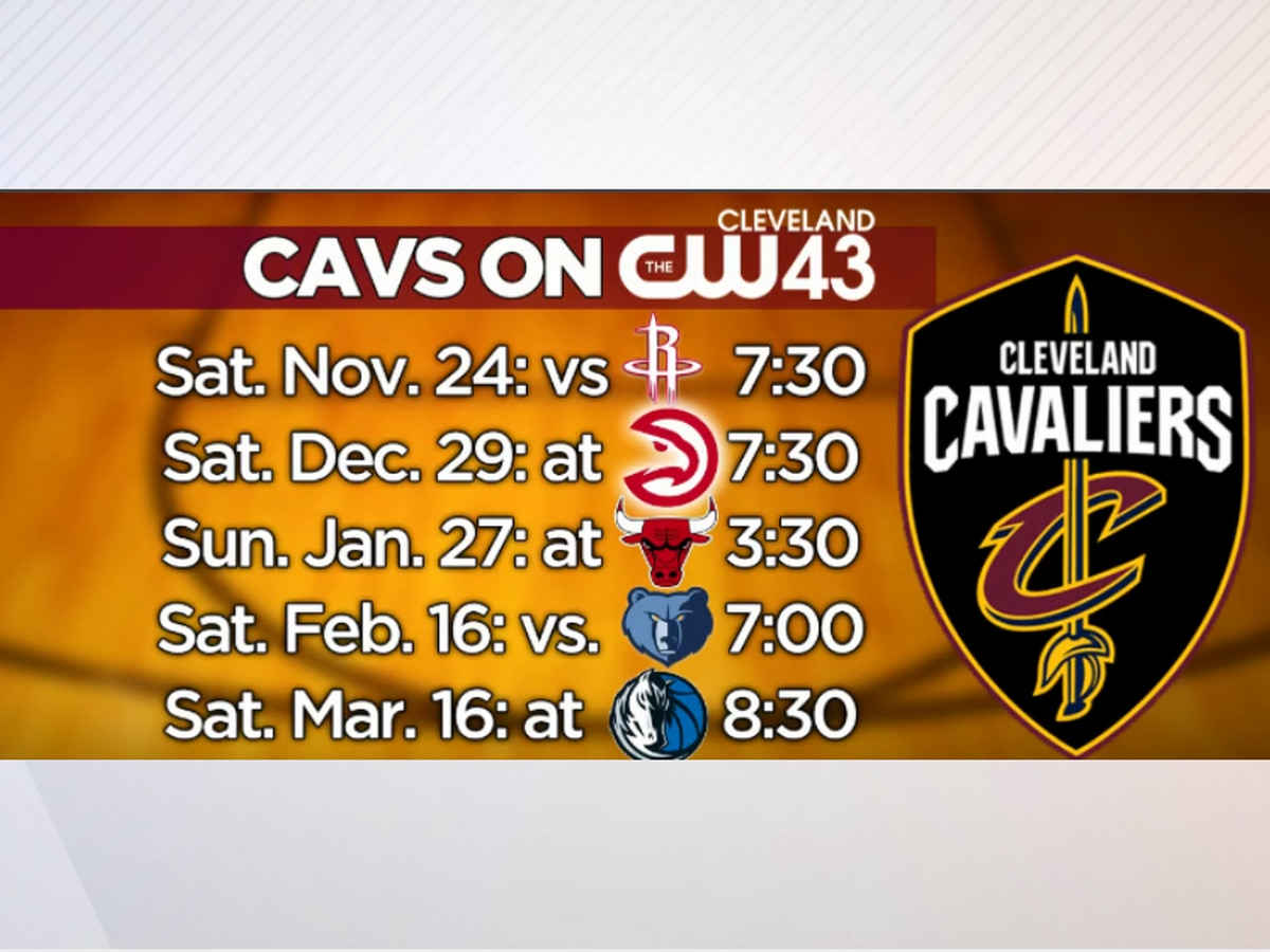 WUAB will air 5 Cleveland Cavaliers games this season