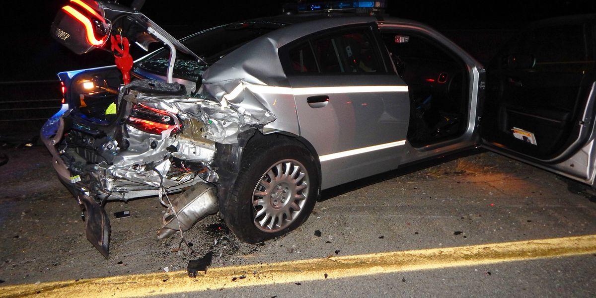Ohio State Highway Patrol cruiser hit Tuesday morning