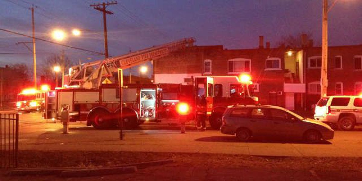 Roads blocked off on Cleveland's east side due to apartment building fire
