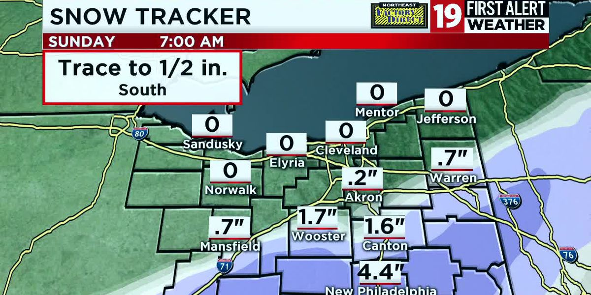 Northeast Ohio Weather: Chilly Friday night, wintry mix Saturday night