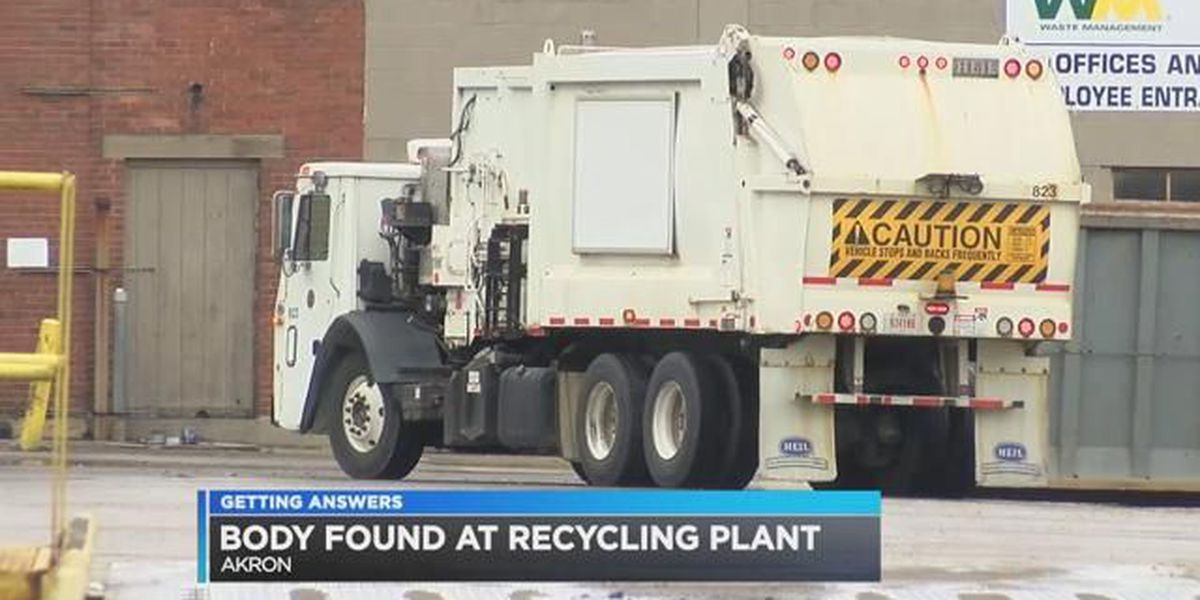 Akron employees find body on recycling center conveyor belt