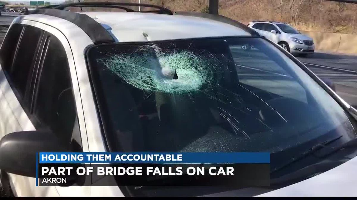 Driver hit by debris from bridge 11 days after major crash into it