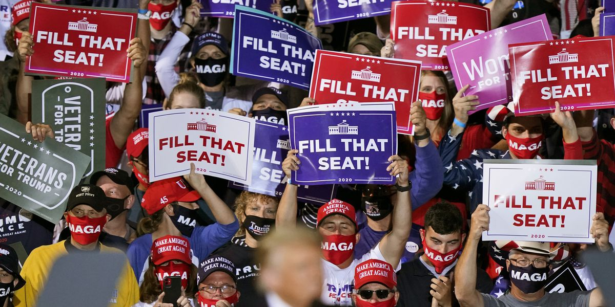President Trump's Ohio supporters boo Gov. DeWine, face masks during campaign rally