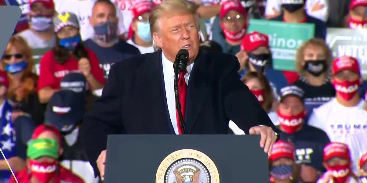 President Trump during Ohio campaign rally: COVID-19 'affects virtually nobody'