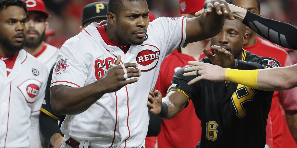 Yasiel Puig involved in on-field brawl between Reds, Pirates after being traded to Cleveland Indians (video)
