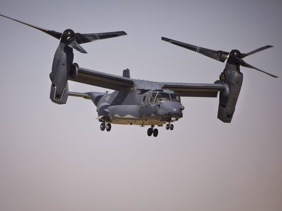 V-22 Ospreys screaming past Cleveland neighborhoods likely part of upcoming presidential visit, source tells 19 News