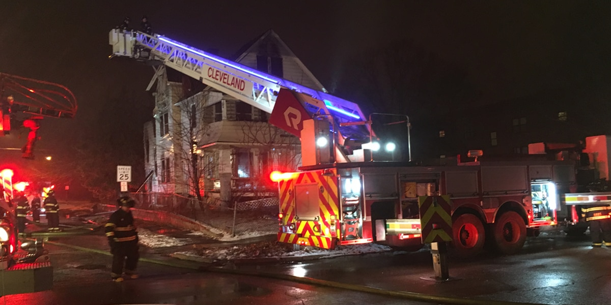 Cleveland house partially collapses after catching on fire