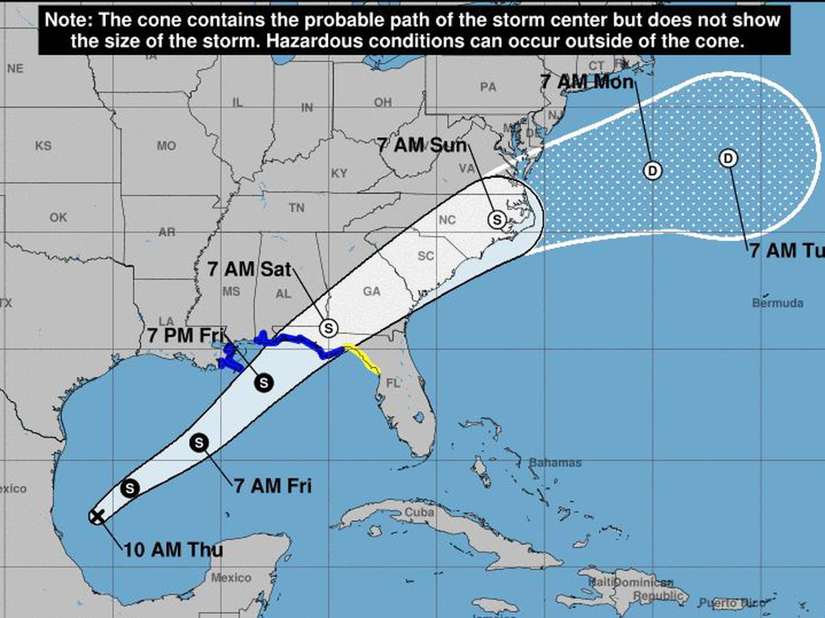 Hurricane Center: Tropical storm likely along Gulf Coast